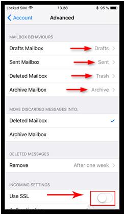 IMAP iOS Kurulumu Adım12
