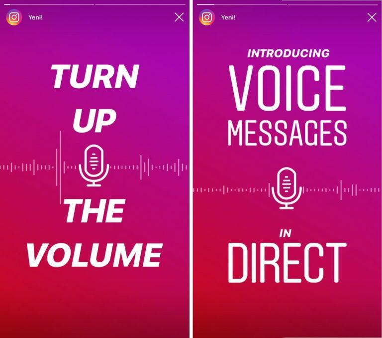 Instagram Sesli Mesaj Özelliği Güncellemesini Duyurdu