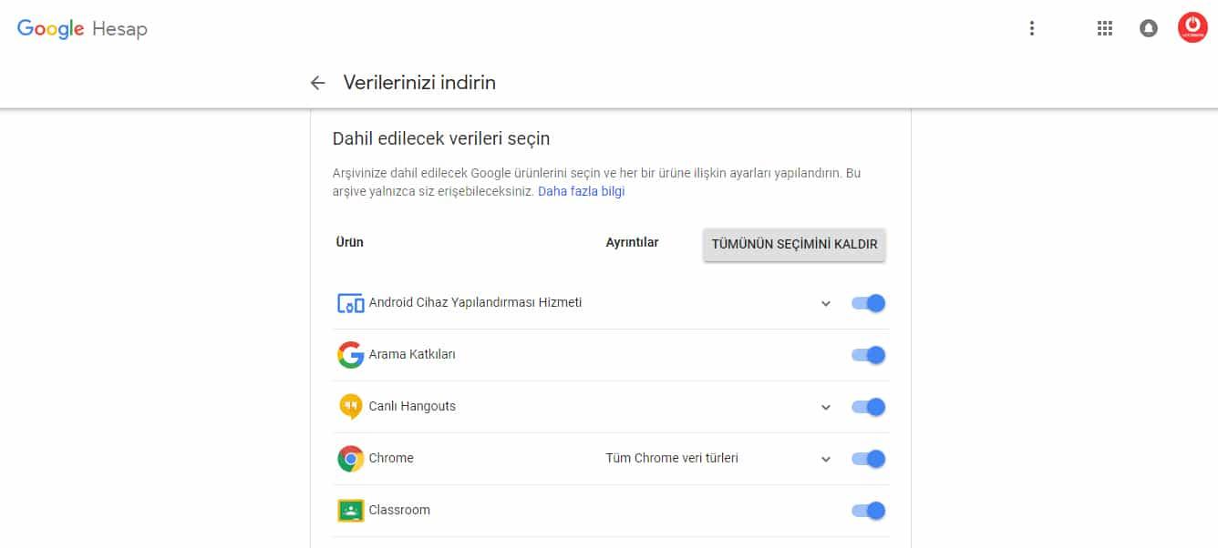 Google+ Google Takeout.1