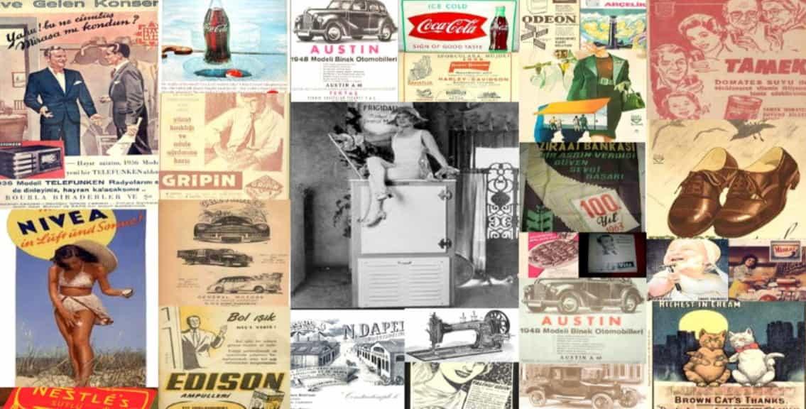 Dijital Reklam Eski Afişler