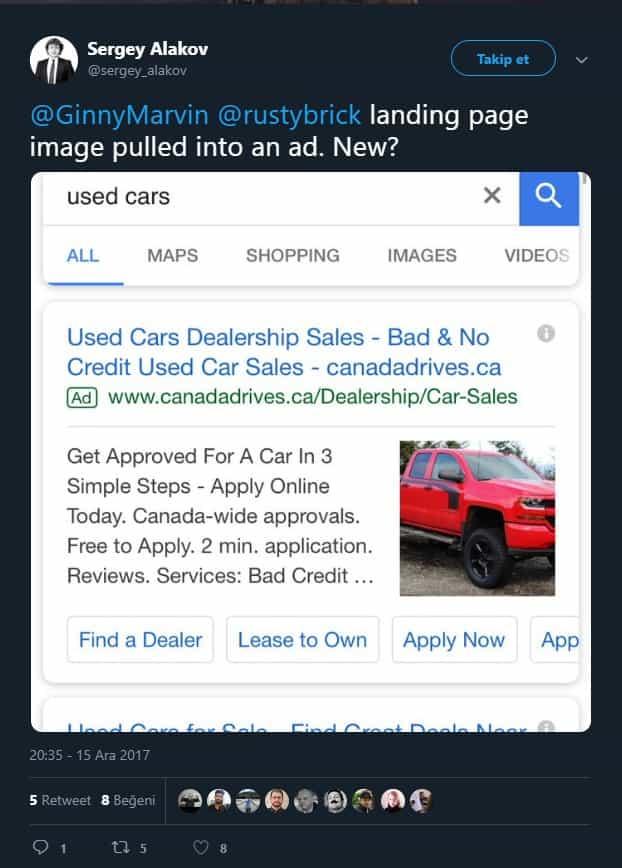 Arama Ağı Reklamlarına Görsel Ekleniyor!
