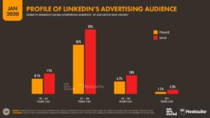 LinkedIn Kullanıcılarının Yaş Dağılımları